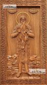 Макарий Египетский - резная икона, артикул 25079-01