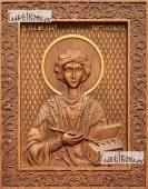 Пантелеймон Целитель - фотография резной иконы, артикул 25013-02