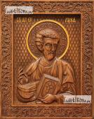 Лука апостол - фотография резной иконы, артикул 25016-01