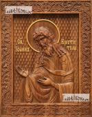Иоанн Креститель (вполоборота) - фотография резной иконы, артикул 25032-01