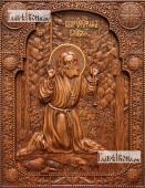 Моление на камне - фотография резной иконы, артикул 25055-02