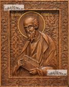 Павел апостол - фотография резной иконы артикул 25061-01