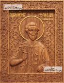 Ермолай Никомидийский - фотография резной иконы, артикул 25107-01