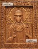 Никита Новгородский - фотография резной иконы, артикул 25110-01