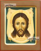 Спас Нерукотворный рукописная икона с ковчегом артикул 637