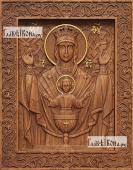 Неупиваемая Чаша Божия Матерь - фотография резной иконы артикул 26002-01