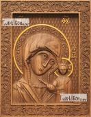 Казанская старинный стиль - фотография резной иконы артикул 26003-02