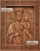 Призри на смирение Божия Матерь - фотография резной иконы артикул 26005-01