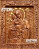 Почаевская Божия Матерь - фотография резной иконы артикул 26007-01