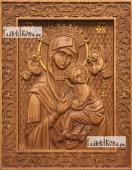 Неустанная помощь Божия Матерь - фотография резной иконы, артикул 26008-01