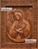 Остробрамская Божия Матерь - фотография резной иконы артикул 26010-01