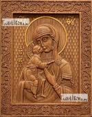 Феодоровская Божия Матерь - фотография резной иконы артикул 26011-01