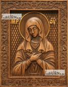 Умиление Божия Матерь - фотография резной иконы артикул 26012-01