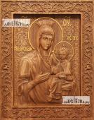 Иверская Божия Матерь - фотография резной иконы артикул 26013-01