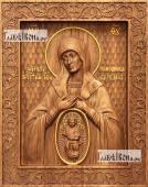 В родах помощница Божия Матерь - фотография резной иконы артикул 26014-01