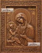 Гребенская Божия Матерь - фотография резной иконы, артикул 26016-01