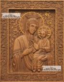 Избавительница Божия Матерь - фотография резной иконы артикул 26017-01