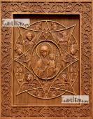 Неопалимая купина Божия Матерь - фотография резной иконы, артикул 26018-01