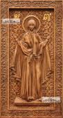 Нерушимая стена Божия Матерь - фотография резной иконы артикул 26019-01