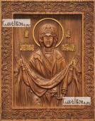 Покров Пресвятой Богородицы - фотография резной иконы артикул 26020-02