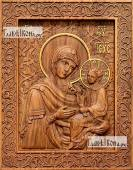 Тихвинская Божия Матерь - фотография резной иконы артикул 26021-01