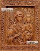 Смоленская Божия Матерь - фотография резной иконы артикул 26022-01