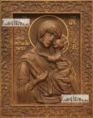 Толгская Божия Матерь - фотография резной иконы артикул 26024-01
