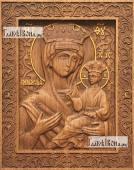 Всеблаженная Божия Матерь - фотография резной иконы артикул 26025-01