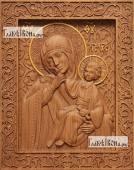 Отрада и Утешение Божия Матерь - фотография резной иконы, артикул 26026-01