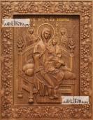Всецарица Божия Матерь - фотография резной иконы артикул 26030-01