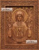 Знамение Божия Матерь - фотография резной иконы, артикул 26031-01