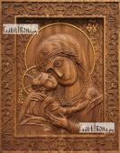 Игоревская Божия Матерь - фотография резной иконы артикул 26032-01