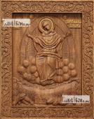 Спорительница хлебов Божия Матерь - фотография резной иконы артикул 26028-02