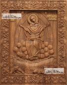 Спорительница хлебов рамка - виноградная лоза - фотография резной иконы