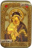 Донская Божия Матерь, икона подарочная в футляре, 10х15 см