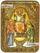 Царь Царем, икона подарочная на дубовой доске, 15х20 см