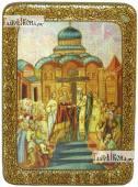 Воздвижение креста Господня, аналойная подарочная икона