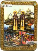 Пересвет и Ослябя, аналойная подарочная икона