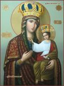 Черниговская икона Божией Матери, в живописном стиле, масло, артикул 5346