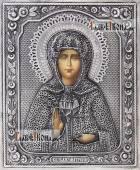 Матрона Московская икона в серебряном окладе на доске