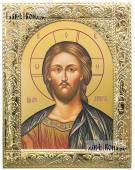 Господь икона в посеребренной ризе артикул 41878