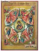 Неопалимая Купина, печатная икона, копия старинной