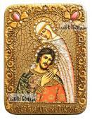 Подарочная икона Петра и Февронии с поясным изображением