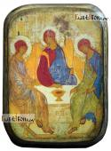 Пресвятая Троица икона под старину на дереве