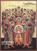 Собор архангела Михаила икона печатная артикул 90500