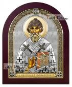 Спиридон Тримифунтский, икона производства Италия, с эмалью