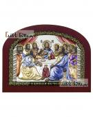 Тайная Вечеря икона производства Италия с эмалью