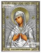 Семистрельная Божия Матерь икона 14х18 см без эмали
