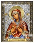 Семистрельная Божия Матерь икона 14х18 см эмаль