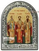 Святители Григорий Иоанн и Василий икона в рамке